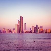 The Beautiful Abu Dhabi Corniche at Sunset