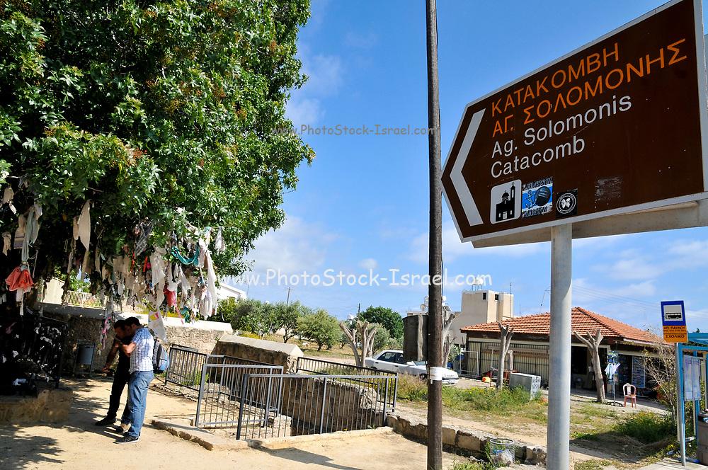 Entrance to the Agia Solomoni Catacomb, Paphos, Cyprus
