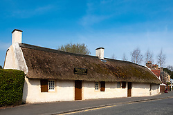 View of Burns Cottage, birthplace and home of Robert Burns, in Alloway , Ayrshire, Scotland, UK.
