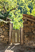 Gateway in village of Somaniezo in Picos de Europa in Cantabria, Northern Spain
