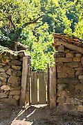Gateway in village of Somaniezo in Picos de Europa in Cantabria, Northern Spain