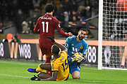 Wolverhampton Wanderers goalkeeper Rui Patricio claims the ball during the Premier League match between Wolverhampton Wanderers and Liverpool at Molineux, Wolverhampton, England on 21 December 2018.