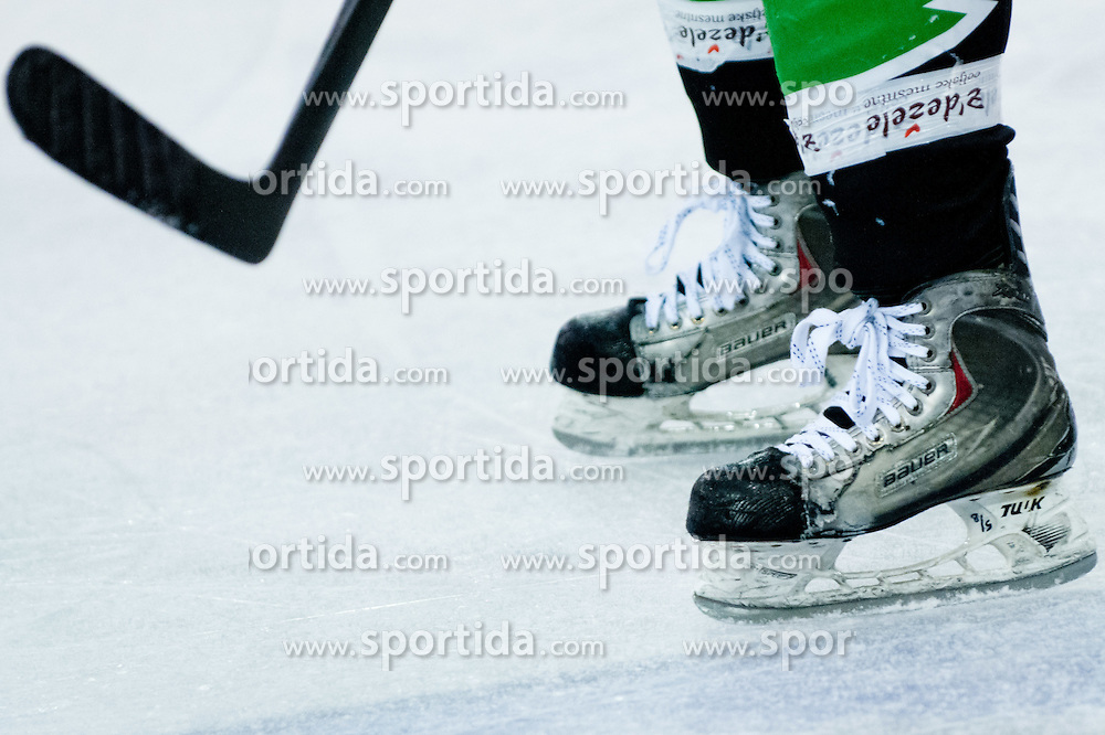 Skates during ice-hockey match between HDD Tilia Olimpija and HK Acroni Jesenice in third game of Final at Slovenian National League, on March 30, 2012 at Hala Tivoli, Ljubljana, Slovenia. (Photo By Matic Klansek Velej / Sportida.com)