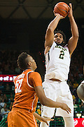 WACO, TX - JANUARY 31: Rico Gathers #2 of the Baylor Bears drives to the basket against the Texas Longhorns on January 31, 2015 at the Ferrell Center in Waco, Texas.  (Photo by Cooper Neill/Getty Images) *** Local Caption *** Rico Gathers