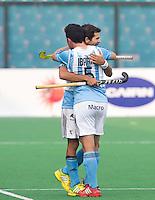 NEW DELHI - Pedro Ibarra tijdens de  poulewedstrijd in de finaleronde van de Hockey World League tussen de mannen van Argentinie en Belgie. ANP KOEN SUYK