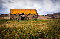 SCOTLAND - CIRCA APRIL 2016: Old abandoned croft house in Skye.