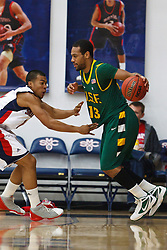 Jan 9, 2012; Moraga CA, USA;  San Francisco Dons guard Rashad Green (13) is defended by St. Mary's Gaels guard Jorden Page (1) during the first half at McKeon Pavilion.  St. Mary's defeated San Francisco 87-72. Mandatory Credit: Jason O. Watson-US PRESSWIRE