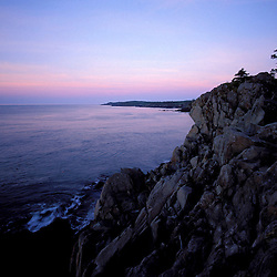 "Cutler, ME. The ""Bold Coast"" - Bay of Fundy.  View from the Coastal Trail at sunrise."