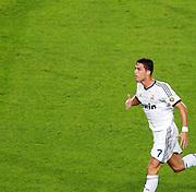 Cristiano Ronaldo scores for Real Madrid. Barcelona v Real Madrid, Supercopa first leg, Camp Nou, Barcelona, 23rd August 2012...Credit : Eoin Mundow/Cleva Media