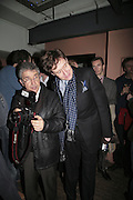 James Peltekian and Nick Foulkes,  Book launch for ' What Did I Do last night' by Tom Sykes. Century Club. Shaftesbury Ave. London. 16 January 2006. -DO NOT ARCHIVE-© Copyright Photograph by Dafydd Jones. 248 Clapham Rd. London SW9 0PZ. Tel 0207 820 0771. www.dafjones.com.