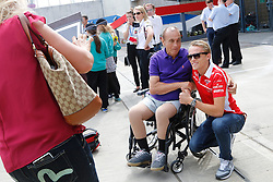 03.07.2014, Silverstone Circuit, Silverstone, ENG, FIA, Formel 1, Grand Prix von Grossbritannien, Vorberichte, im Bild Max Chilton (GBR) Marussia F1 Team poses for a photograph with the fans // during the preperation of British Formula One Grand Prix at the Silverstone Circuit in Silverstone, Great Britain on 2014/07/03. EXPA Pictures © 2014, PhotoCredit: EXPA/ Sutton Images/ Lavadinho<br /> <br /> *****ATTENTION - for AUT, SLO, CRO, SRB, BIH, MAZ only*****