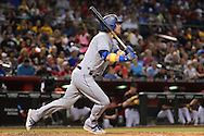 PHOENIX, AZ - SEPTEMBER 17:  Josh Reddick #11 of the Los Angeles Dodgers singles to left during the sixth inning against the Arizona Diamondbacks at Chase Field on September 17, 2016 in Phoenix, Arizona. The Dodgers won 6 - 2.  (Photo by Jennifer Stewart/Getty Images)