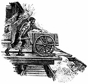 South Durham Salt Works, England: Loading crystallised salt into railway wagons. Engraving 1884