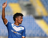 Brescia Calcio's French striker Florian Aye reacts during the Serie A match at Stadio Mario Rigamonti, Brescia. Picture date: 27th June 2020. Picture credit should read: Jonathan Moscrop/Sportimage