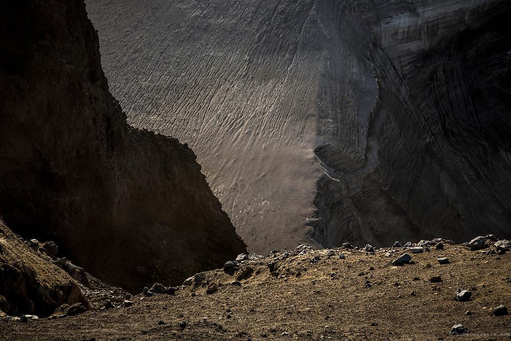 Capelinhos volcano cliffs. Faial, Azores, Portugal
