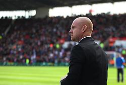 Burnley manager Sean Dyche - Mandatory by-line: Jack Phillips/JMP - 22/04/2018 - FOOTBALL - Bet365 Stadium - Stoke-on-Trent, England - Stoke City v Burnley - English Premier League