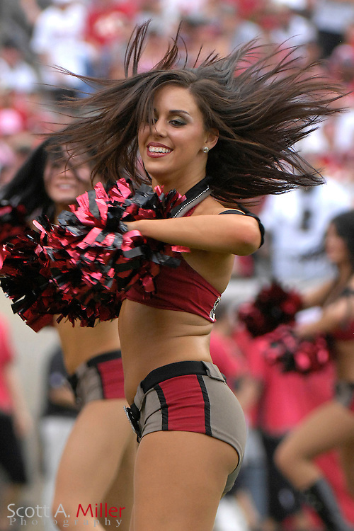 Sep 16, 2007; Tampa, FL, USA; Tampa Bay Buccaneer cheerleaders during their team's 31-14 win over the New Orleans Saints at Raymond James Stadium. Tampa Bay won the game 31-14. ..©2007 Scott A. Miller