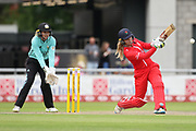 Lancashire Thunders Ellie Threlkeld (Wicket Keeper) during the Women's Cricket Super League match between Lancashire Thunder and Surrey Stars at the Emirates, Old Trafford, Manchester, United Kingdom on 7 August 2018.