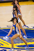 The Golden State Warriors Dance Team performs during a timeout during a NBA game against the Indiana Pacers at Oracle Arena in Oakland, Calif., on December 5, 2016. (Stan Olszewski/Special to S.F. Examiner)