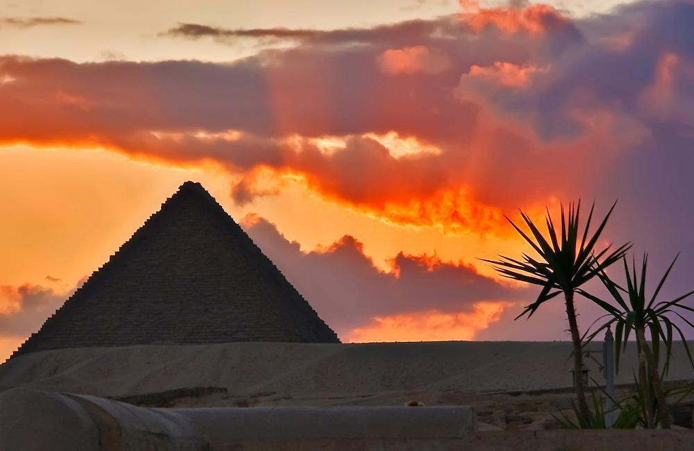 Giza sunset