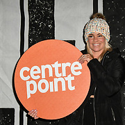 Tamara Wall join Sleep Out fundraiser to help homeless young people at Greenwich Peninsula Quay on 15 November 2018, London, UK.