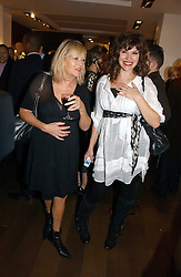 Left to right, ANNE NIGHTINGALE and JESSICA MORRIS at Forever Marilyn an exhibition of a art associated with Marilyn Monroe in aid of Save The Children held at Scream, Bruton Street, London on 23rd October 2006.<br /><br />NON EXCLUSIVE - WORLD RIGHTS