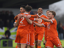 Braintree Town's Mitch Brundle celebrates his goal with team mates - Photo mandatory by-line: Nizaam Jones - Mobile: 07966 386802 - 14/03/2015 - SPORT - Football - Nailsworth - The New Lawn - Forest Green Rovers v Braintree  - Vanarama Football Conference.
