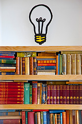 Bookshelves and Wall Painting