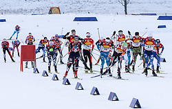17.12.2016, Nordische Arena, Ramsau, AUT, FIS Weltcup Nordische Kombination, Langlauf, im Bild eine Gruppe von Athleten // athletes during Cross Country Competition of FIS Nordic Combined World Cup, at the Nordic Arena in Ramsau, Austria on 2016/12/17. EXPA Pictures © 2016, PhotoCredit: EXPA/ Martin Huber