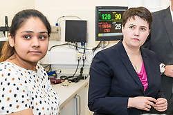 Scottish Conservative leader Ruth Davidson and Health Spokesman Miles Briggs visit University of Edinburgh Medical School meet with students to discuss GP training and careers. <br /> <br /> The visit is part of the Scottish Conservatives' Save Our Surgeries campaign, which is calling for better support for GP services.