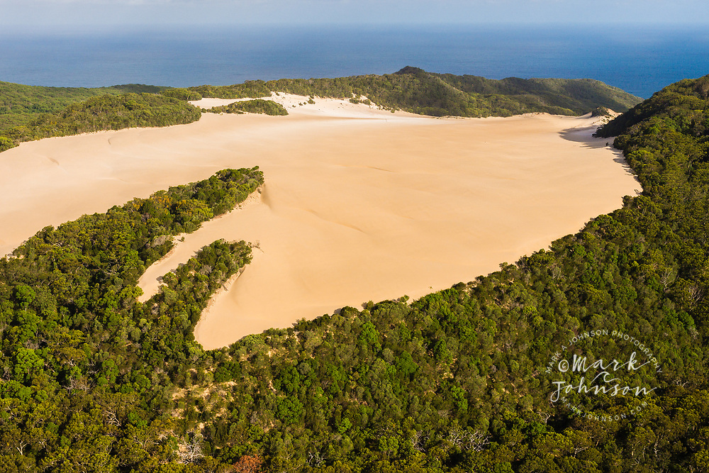 Aerial photograph of Cooloola Sandpatch, Great Sandy National Park, Sunshine Coast, Queensland, Australia