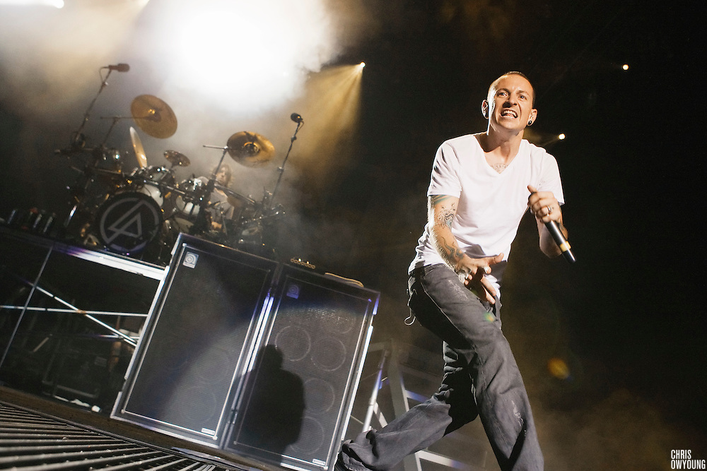 Linkin Park performs at Projekt Revolution at Verizon Wireless Ampitheater in St. Louis, MO on August 21, 2008. © Christopher Owyoung / One Louder Photography