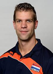 09-05-2014 NED: Selectie Nederlands zitvolleybal team mannen, Leersum<br /> In sporthal De Binder te Leersum werd het Nederlands team zitvolleybal seizoen 2014-2015 gepresenteerd / Jan-Jaap van Schuylenburg