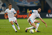Yusuf Sari and Adil Rami during the French Championship Ligue 1 football match between Olympique de Marseille and Toulouse FC on September 24, 2017 at Orange Velodrome stadium in Marseille, France - Photo Philippe Laurenson / ProSportsImages / DPPI
