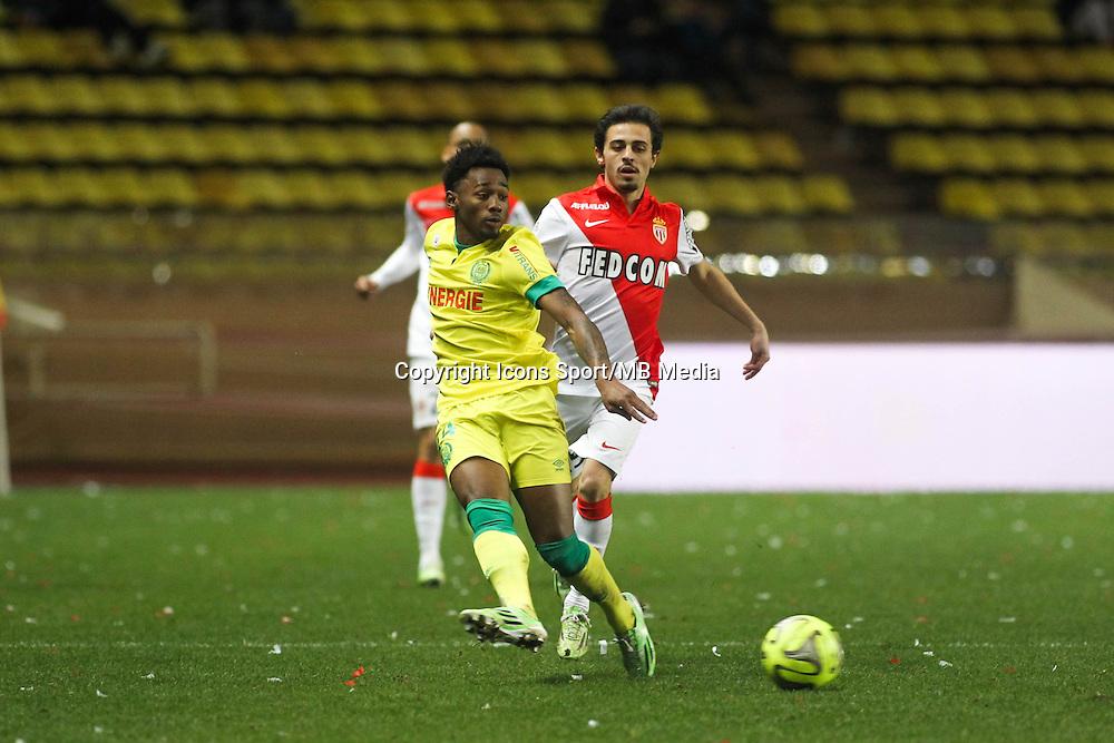 Mbida NKOUDOU / Bernardo SILVA - 17.01.2015 - Monaco / Nantes - 21eme journee de Ligue 1 <br />Photo : Serge Haouzi / Icon Sport