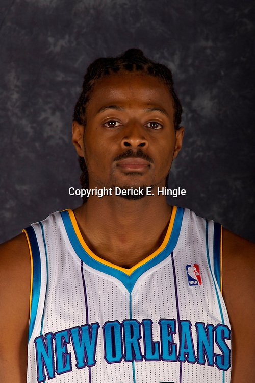 October 1, 2012; Westwego, LA, USA; New Orleans Hornets forward Dominique Morrison (24) poses for a portrait during Media Day at the Alario Center. Mandatory Credit: Derick E. Hingle-US PRESSWIRE