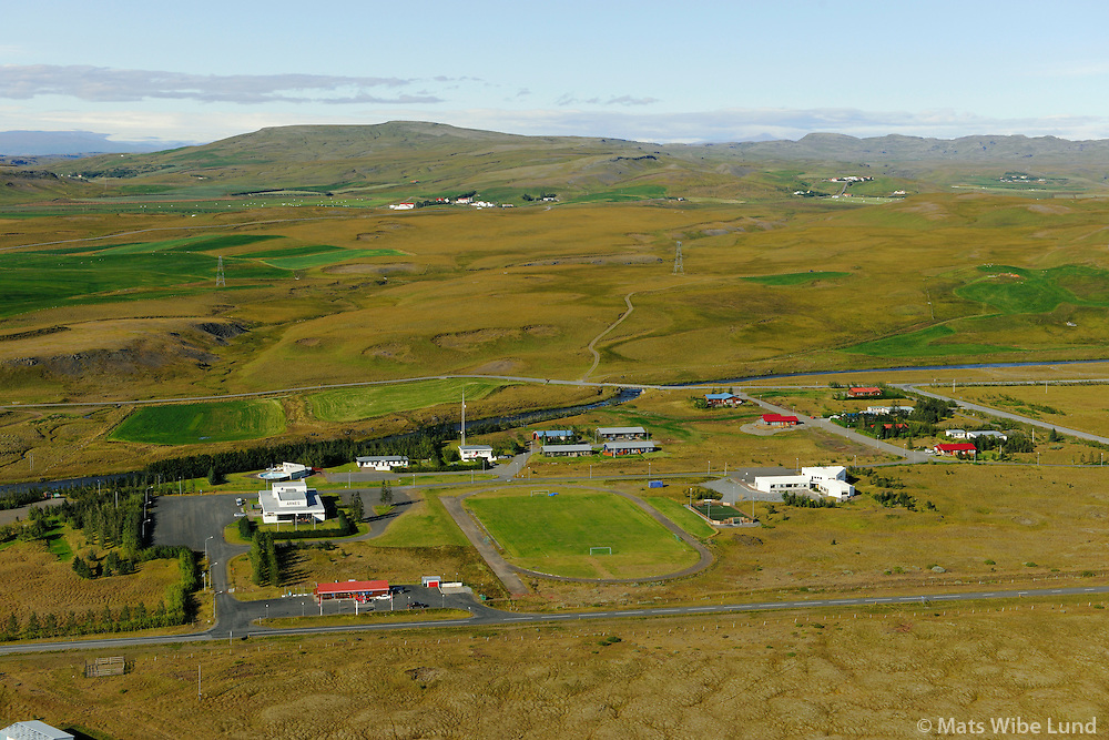 Árnes séð til norðurs, Skeiða- og Gnúpverjahreppur / Arnes viewing north, Skeida- og Gnupverjahreppur.