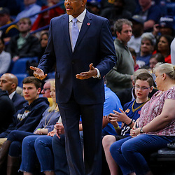 Mar 21, 2018; New Orleans, LA, USA; New Orleans Pelicans head coach Alvin Gentry against the Indiana Pacers during the second quarter at the Smoothie King Center. Mandatory Credit: Derick E. Hingle-USA TODAY Sports