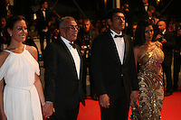 Egyptian actress Menna Shalaby, Egyptian director Yousry Nasrallah, Bassem Samra, Nahed El Sebaï, The cast arriving at the gala screening of the film Baad El Mawkeaa at the 65th Cannes Film Festival. Thursday 17th May 2012, the red carpet at Palais Des Festivals in Cannes, France.