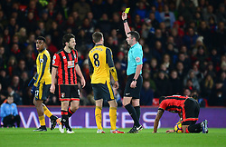 Aaron Ramsey of Arsenal is booked. - Mandatory by-line: Alex James/JMP - 03/01/2017 - FOOTBALL - Vitality Stadium - Bournemouth, England - Bournemouth v Arsenal - Premier League
