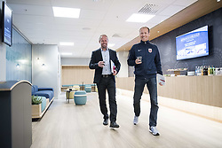 August 31, 2017 - Oslo, NORWAY - 170831 General secretary PÅ'l Bjerketvedt and communications director Svein Graff of the Norwegian Football Association (NFF) arrives at a press conference regarding football player Ada Hegerberg (not pictured) taking a break from the national team on August 31, 2017 in Oslo..Photo: Jon Olav Nesvold / BILDBYRN / kod JE / 160000 (Credit Image: © Jon Olav Nesvold/Bildbyran via ZUMA Wire)