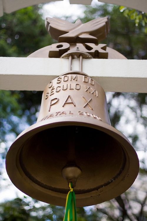 Sao Paulo_SP, Brasil...Patio do Colegio, no centro de Sao Paulo. Na foto detalhe do Sino...The Patio do Colegio square, in Sao Paulo downtown. In this photo a bell...Foto: MARCUS DESIMONI /  NITRO