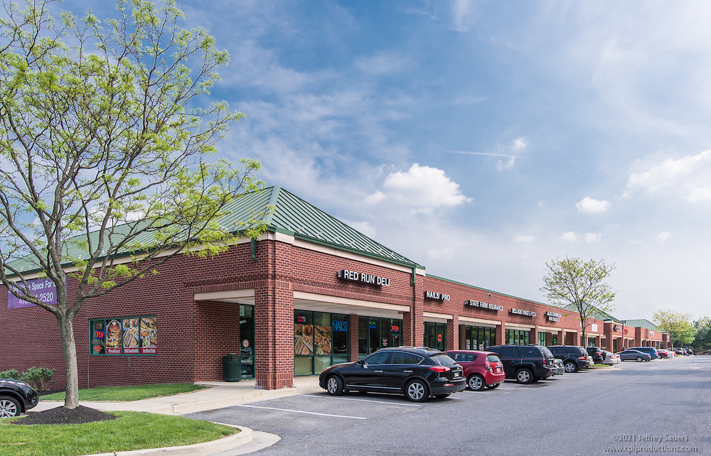 Exterior Image of Pleasant Hill Center in Ownings Mills Maryland by Jeffrey Sauers of Commercial Photographics, Architectural Photo Artistry in Washington DC, Virginia to Florida and PA to New England