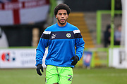 Forest Green Rovers Reuben Reid(26) warming up during the EFL Sky Bet League 2 match between Forest Green Rovers and Port Vale at the New Lawn, Forest Green, United Kingdom on 6 January 2018. Photo by Shane Healey.