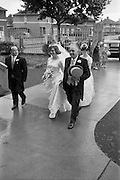 22/08/1963<br /> 08/22/1963<br /> 22 August 1963<br /> Wedding of Frank McKevitt and Frances Emmett. Mr. Frank McKevitt, 32 Celtic Park Avenue, Drumcondra, Dublin, a prominent member of the Rathmines and rather Musical Society, and a Personnel Executive at Telefís Éireann was married to Miss Frances Emmett, 2. Great Western Square, Phibsboro, Dublin, at Christ the King Church, Cabra, Dublin, with reception at the Claremont Hotel, Howth.
