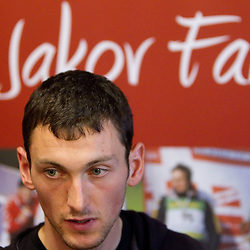 20101108: CRO, Biathlon - Press conference of Jakov Fak