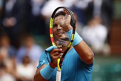 May 29, 2018 - Paris, Ile-de-France, France - Rafael Nadal attends the tennis match game during the Roland Garros Tournament in Paris, France, May 29, 2018. (Credit Image: © Mehdi Taamallah/NurPhoto via ZUMA Press)