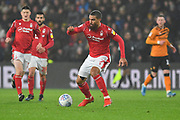 Nottingham Forest player Lewis Grabban (7) during the EFL Sky Bet Championship match between Hull City and Nottingham Forest at the KCOM Stadium, Kingston upon Hull, England on 26 December 2019.