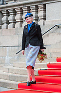 03.10.2017. Copenhagen, Denmark. <br /> Queen Margrethe leaves the Danish Parliament at Christiansborg Palace in Copenhagen, Denmark.<br /> Photo: © Ricardo Ramirez