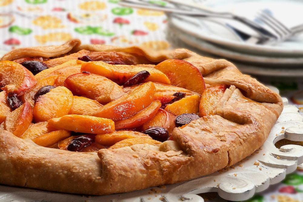Peach,nectarine,cherry,tart